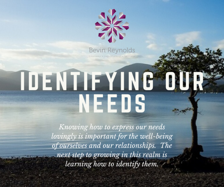 Identifying Our Needs